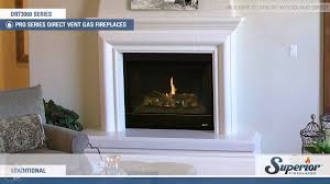 superior drt3000 direct vent gas fireplace youtube