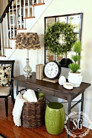foyer decor boxwood wreath in the foyer and a giveaway foyers giveaway and