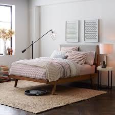 Modern Bed Frame Modern Bed Linen Weave West Elm