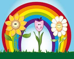 rainbow murals for walls wall murals you ll love rainbow flowers l stick wall mural