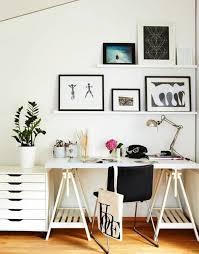 bureau treteau ikea comment décorer un bureau laqué blanc 61 photos inspirantes
