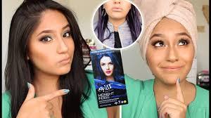 Color Dye For Dark Hair Does Splat Hair Dye Work On Dark Hair Youtube
