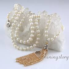 pearls beads necklace images Buddhist prayer beads necklace 108 chanting mantra meditation jpg