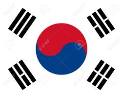 Blue White And Red Flags Korea Flag With Red Blue And White Colors Royalty Free Cliparts