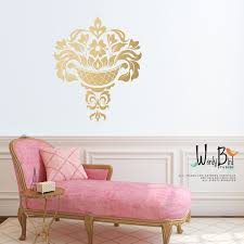 28 damask wall stickers damask decals living room wall damask wall stickers gold damask wall decal jacobean large wall decal gold
