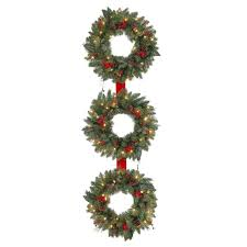 martha stewart living 60 in winslow 3 ring artificial wreath with