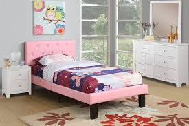 Double Deck Bed Designs Pink Amazon Com Poundex Pu Upholstered Platform Bed Twin Pink