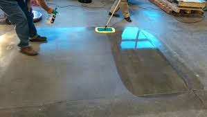exposed concrete architectural finishstaining floor diy finish