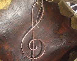 copper treble clef ornament gift musician