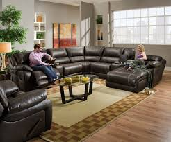 Sectional Sofas With Recliners And Chaise Blackjack Simmons Brown Leather Sectional Sofa Chaise Lounge