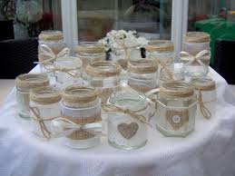 Shabby Chic Wedding Accessories by Shabby Chic Vintage Wedding Decorated Glass Jar Tea Light Holders