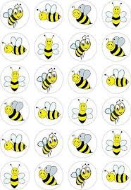 bumble bee cake topper 24 bumble bee cupcake fairy cake toppers edible rice wafer
