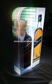 Liquor Display Shelves by 2 Step Led Lighted Bar Shelves With Led 3 Tier Acrylic Shelf