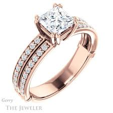 square cut engagement ring princess cut engagement ring setting gtj902 square r gerry the