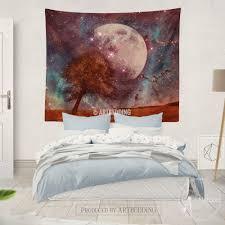 Bedroom Wall Tapestries Full Moon Wall Tapestry Moon Stars Wall Tapestries Moon Wall