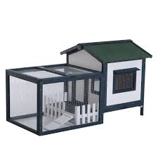 Heavy Duty Rabbit Hutch Pawhut Wooden Rabbit Hutch With Outdoor Run