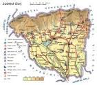 Judetul Gorj - Harta Romaniei