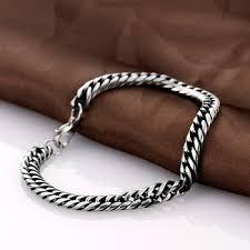 chain bracelet men images Motorcycle chain link bracelet mens silver cuban link chain jpg