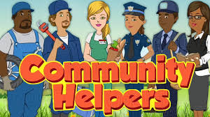 kids learn new words about community helpers such as teacher