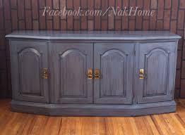 furniture makeover refurbished shabby chic navy blue vintage