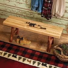 rustic accent furniture with moose u0026 bear designs black forest decor
