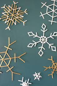 the 25 best popsicle stick snowflake ideas on gold