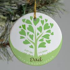 personalized ceramic tree memorial tree ornament