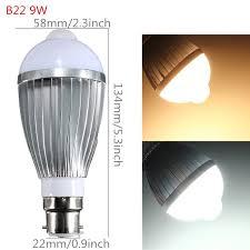 pir led light bulb pir infrared motion sensor detection led light bulb l youtube