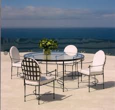 Round Glass Dining Table And Chairs Exterior Design Elegant Wicker Dining Chairs With Janus Et Cie