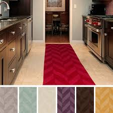 decoration brown striped runner rug entryway hallway home