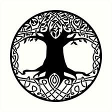 tree symbol yggdrasil tree of life viking symbol art prints by handcraftline