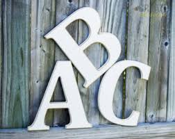 large wooden letter etsy