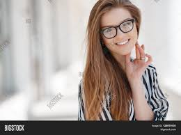 hairstyles for long straight hair with glasses portrait happy woman glasses spring image photo bigstock