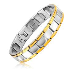 gold bangle bracelet men images Healing magnetic bracelet men 316l stainless steel 5 health care jpg