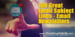 Subject Line For Resume Submission 100 Great Email Subject Lines Email Newsletters Marketing Artfully
