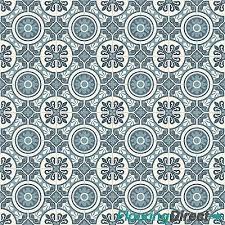 blue geometric tile style vinyl flooring slip resistant 2m lino