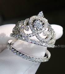 crown wedding rings crown wedding rings topaz women crown wedding ring engagement