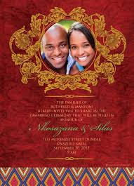 wedding invitations south africa south traditional wedding invitation card umembeso card