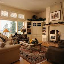 Cottage Livingrooms Living Room Small Living Room Ideas With Corner Fireplace