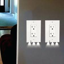 receptacle cover night light electrical outlet with built in night light wall lights design