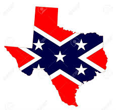 Texas State Flag Outline Of The State Of Texas With Confederate Flag Isolated