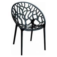 Polycarbonate Chairs Simple U0026 Sleek 10 Jet Black Chairs