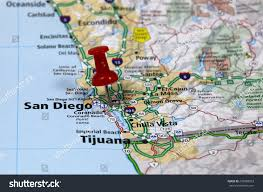 Maps San Diego by Map Pin Point San Diego California Stock Photo 272088953