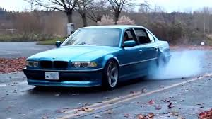 bmw 7 series e38 750il burnouts youtube
