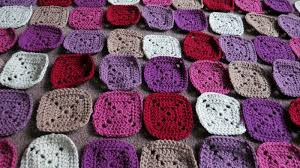 how to join crochet squares completely flat zipper method plummy solid square crochet blanket the really good life