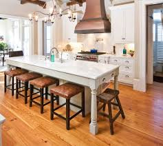 kitchen islands with bar 30 kitchen islands with tables a simple but clever combo