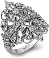 detailed engagement rings simon g detailed ring mr2389