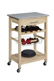 kitchen islands with granite top linon kitchen cart with granite top 44037nat 01 kd u