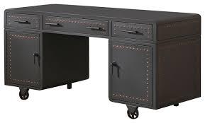 acme actaki executive desk sandy gray industrial desks and
