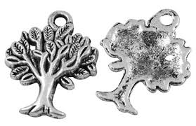 22mm antique silver tree of charm lead and nickel free other